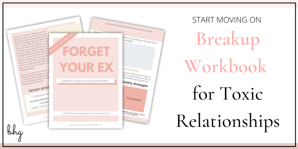 breakup workbook for getting over a bad breakup