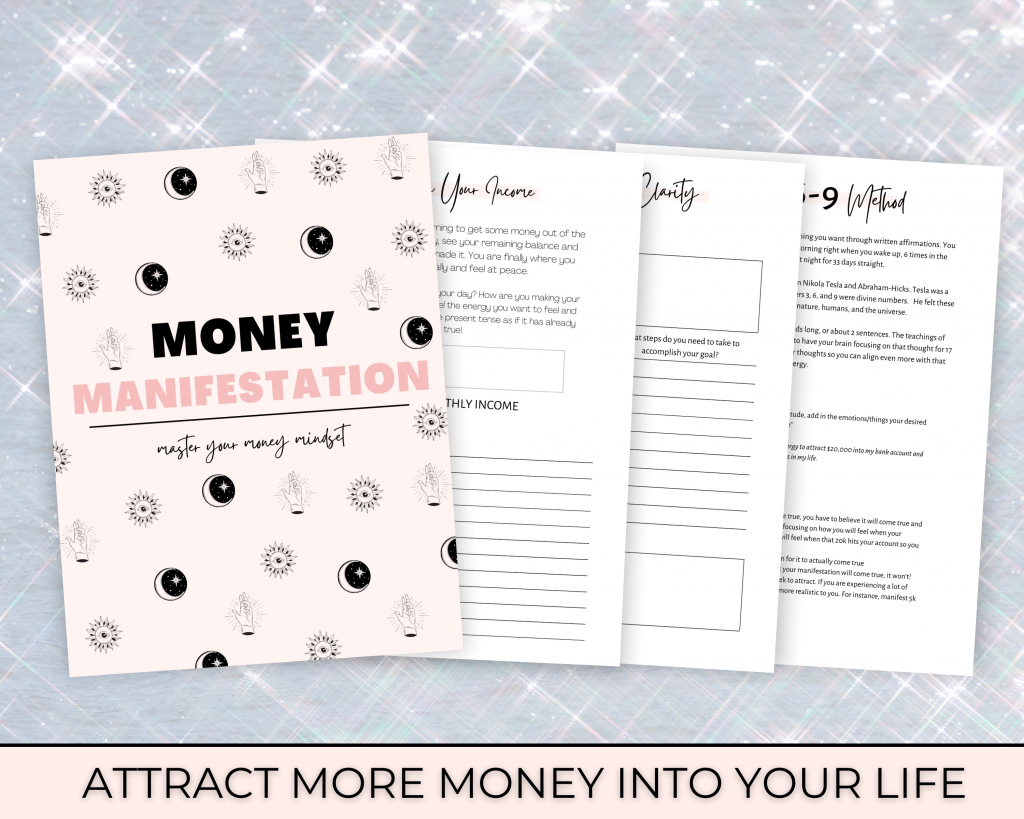 money manifestation journal, attract more money into your life